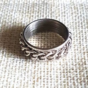 Stainless steel chain ring, size 6